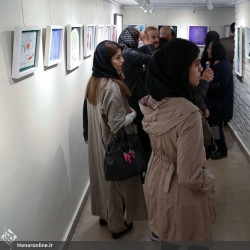 نمایشگاه نقاشی پشت شیشه | عکس