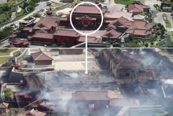آتش میراث جهانی ۶۰۰ ساله ژاپن را نابود کرد | عکس