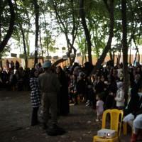 نمایش دفاع مقدسی «انشاء دختری متولد ۸۴» در محمودآباد به اجرا در آمد | عکس