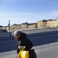 ایتالیا خالی از توریست | خلوتی حاشیه رودخانه «آرنو»