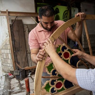 کارگاه ساخت گره چینی؛ بوشهر | عکس