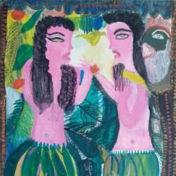 نمایشگاه آثار نقاشیهای مکرمه قنبری | عکس