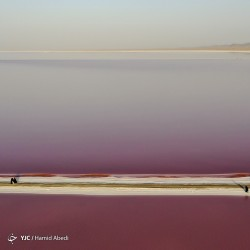 سرخی دریاچه حوض سلطان | عکس