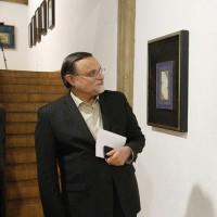 رییس موسسه فرهنگی اکو در دیدار از نمایشگاه دستخط در نیاوران؛ خوشنویسی زینت معنوی همه هنرهاست | عکس