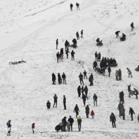 تفریح برفی در همدان | عکس