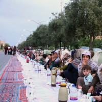 طولانی ترین سفره افطاری ایران در آققلا | عکس