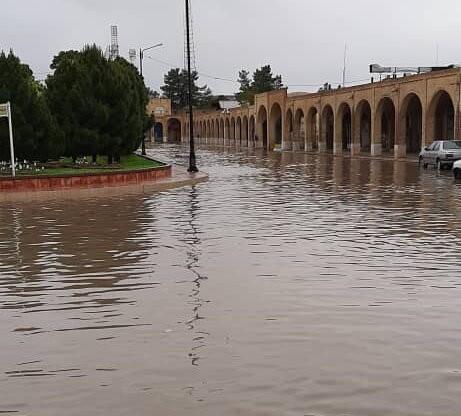 بافت تاریخی کرمان زیر آب | عکس