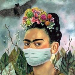 کرونا و تابلوهای معروف | فریدا کالو