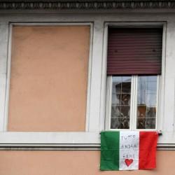پنجره و بالکنهای جهان در روزهای کرونا | رم، ایتالیا