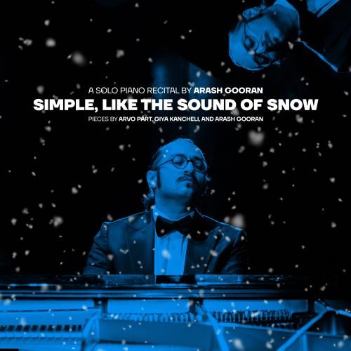 عکس کنسرت آنلاین رسیتال پیانو آرش گوران - ساده همچون برف