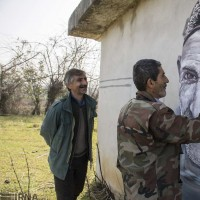 چهره روستاییان بر دیوار | عکس
