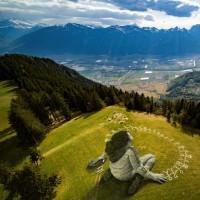 هنرهای خیابانی با الهام از کرونا | لیزین، سوئیس