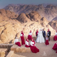 ازدواج در ارتفاعات کوه سینا | عکس