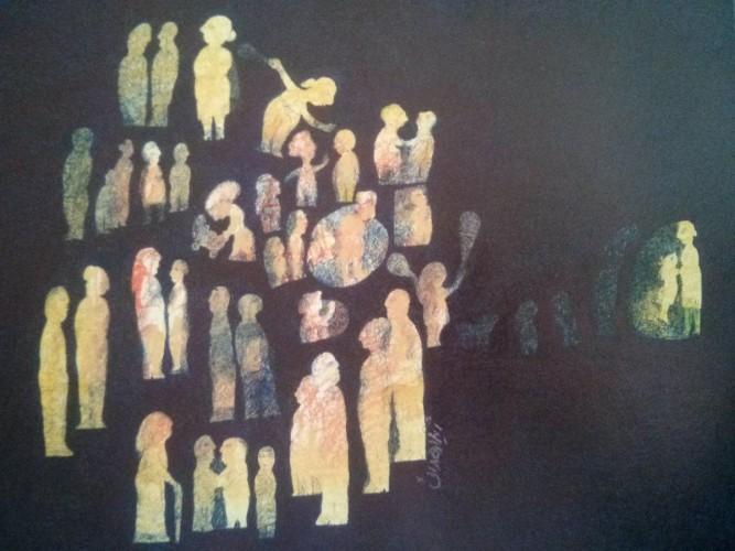 عکس نمایشگاه آثار ژیلا هدایی