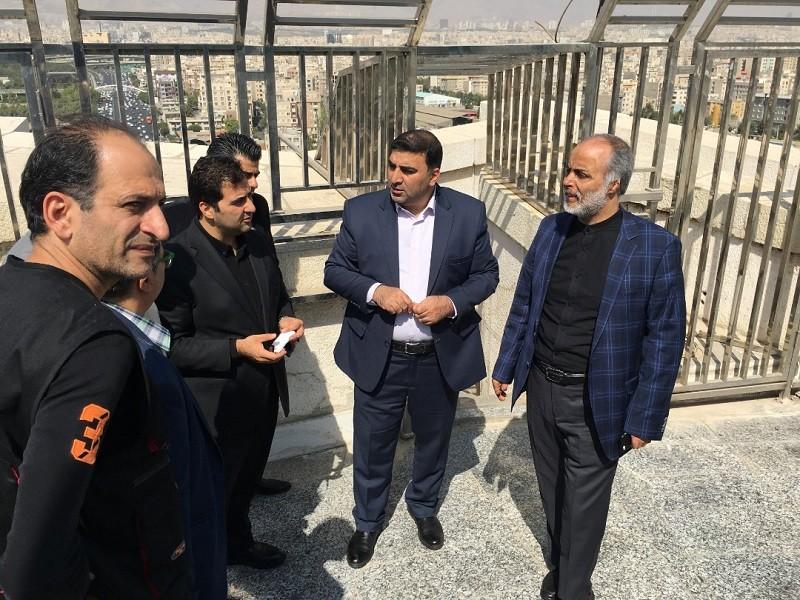 مدیر عامل بنیاد رودکی از برج آزادی بازدید کرد | عکس