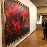 نمایشگاه الحق مع علی | احساسات روح الامین در آثارش مشهود است | عکس