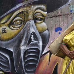 هنرهای خیابانی با الهام از کرونا | کالی، کلمبیا