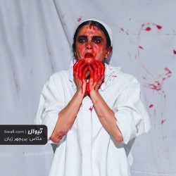 نمایش تابلویی از خون | عکس