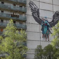 هنرهای خیابانی با الهام از کرونا | مسکو، روسیه