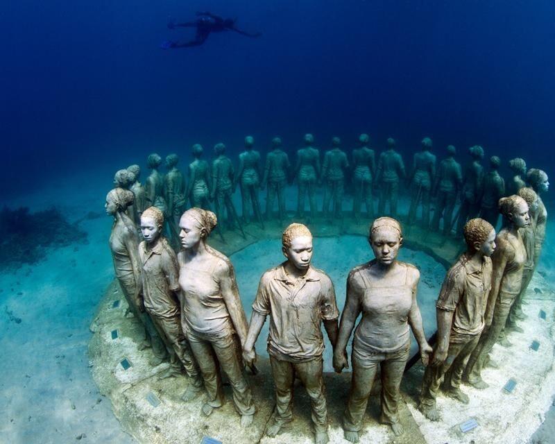 افتتاح سه پارک مجسمه زیرآبی در فرانسه | عکس