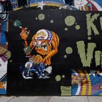 هنرهای خیابانی با الهام از کرونا | لاس وگاس