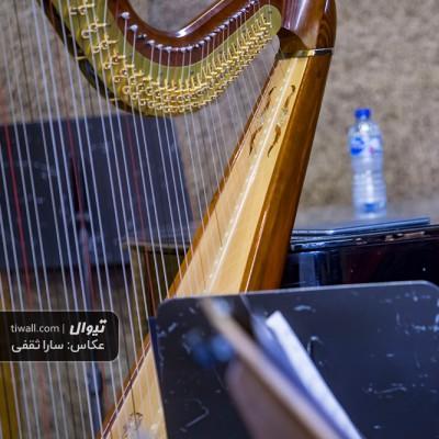 گزارش تصویری تیوال از تمرین ارکستر مانجین (ارسلان کامکار)، سری چهارم/ عکاس: سارا ثقفی | سحر عباسی، هارپ، چنگ، ارکستر مانجین