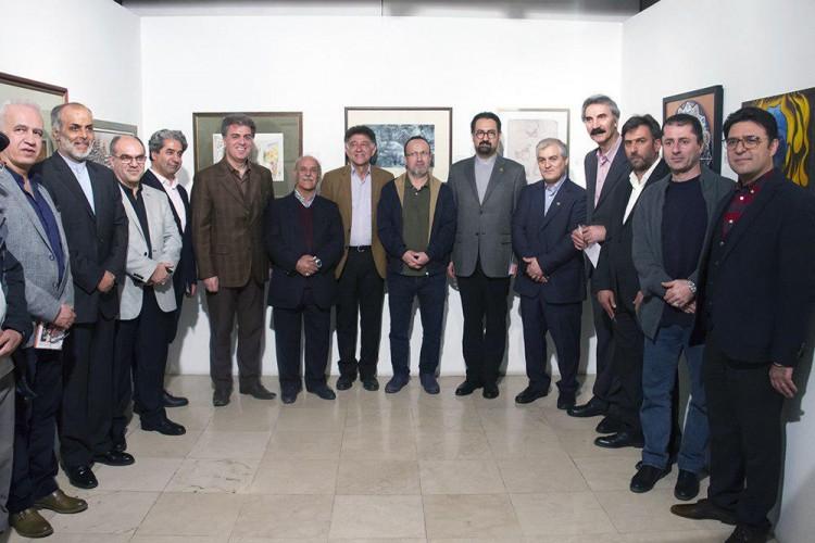 عکس نمایشگاه هنرمندان پیشکسوت