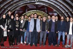 فیلم من | عوامل فیلم سینمایی «من» روی فرش قرمز/لیلا حاتمی به فرش قرمز نرسید! | عکس
